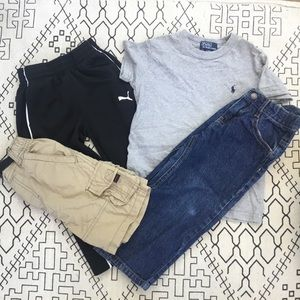 Boys jeans, carp shorts, tee bundle